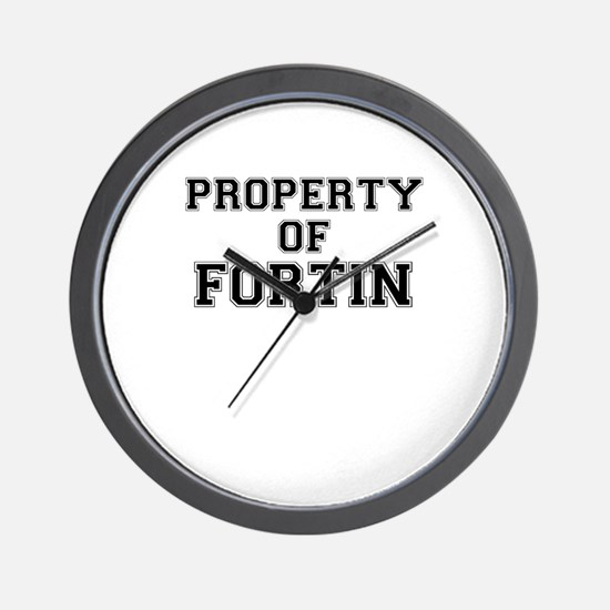 Property of FORTIN Wall Clock