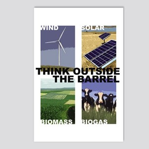 Think Outside the Barrel Postcards (Package of 8)