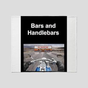 BARS AND HANDLEBARS Throw Blanket