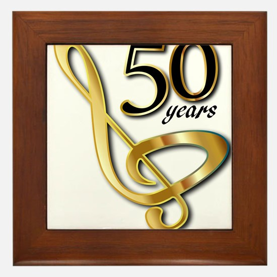 50 Years Golden Celebration Framed Tile