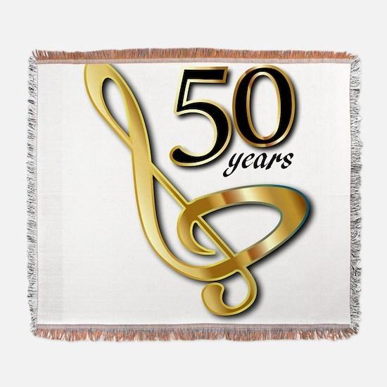 50 Years Golden Celebration Woven Blanket