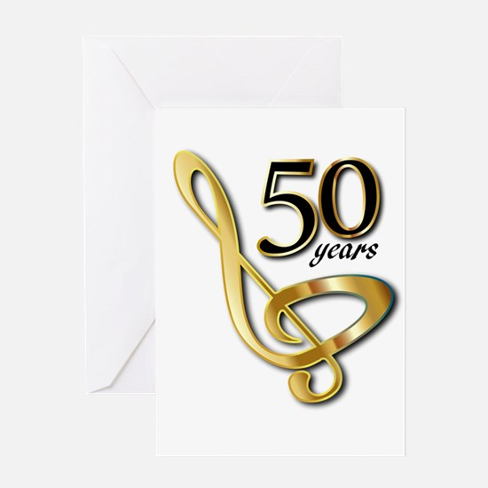 50 Years Golden Celebration Greeting Cards