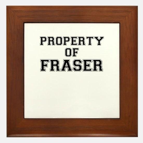 Property of FRASER Framed Tile