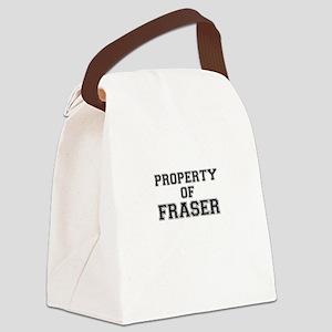 Property of FRASER Canvas Lunch Bag