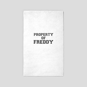 Property of FREDDY Area Rug