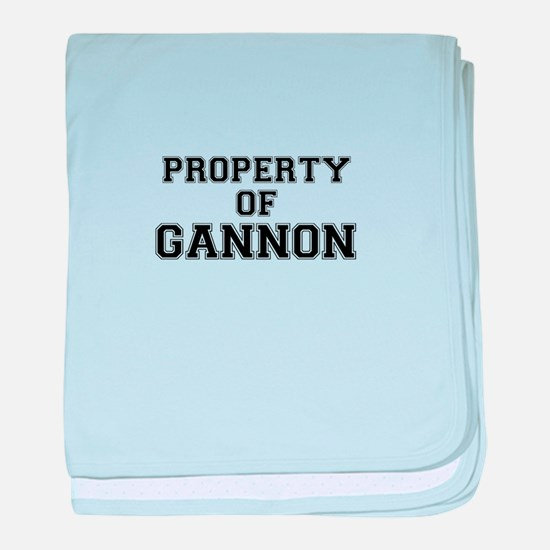 Property of GANNON baby blanket