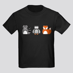Raccoon, Owl and Fox Trio T-Shirt