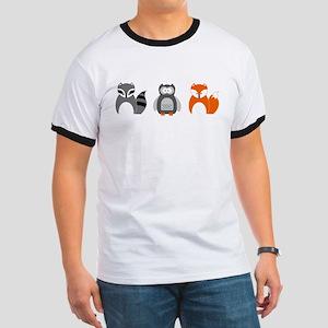 Raccoon, Owl and Fox Trio T-Shirt