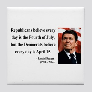 Ronald Reagan 10 Tile Coaster