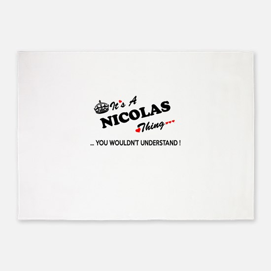 NICOLAS thing, you wouldn't underst 5'x7'Area Rug