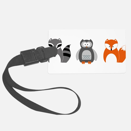 Raccoon, Owl and Fox Trio Luggage Tag