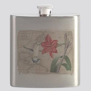 Hummingbird Collage Flask