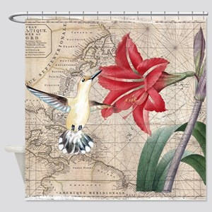Hummingbird Collage Shower Curtain