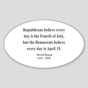 Ronald Reagan 10 Oval Sticker