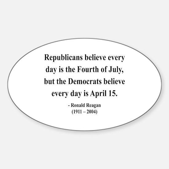 Ronald Reagan 10 Oval Decal
