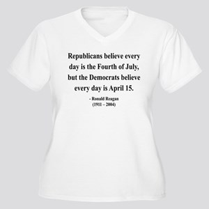 Ronald Reagan 10 Women's Plus Size V-Neck T-Shirt
