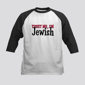 Trust Me I'm Jewish Kids Baseball Jersey