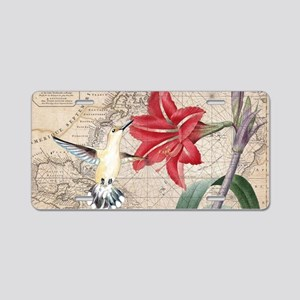 Hummingbird Collage Aluminum License Plate