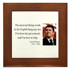 Ronald Reagan 11 Framed Tile