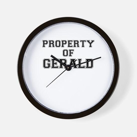 Property of GERALD Wall Clock