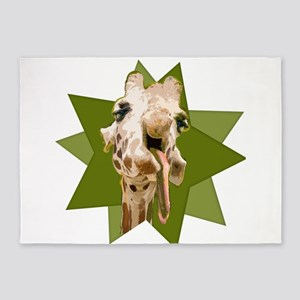 Giraffe with a Hangover 5'x7'Area Rug