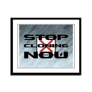 Stop Cloning Now Framed Panel Print