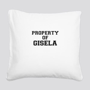 Property of GISELA Square Canvas Pillow