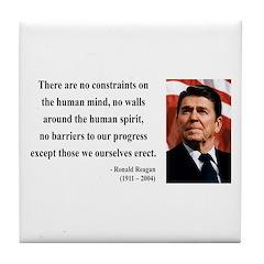 Ronald Reagan 13 Tile Coaster