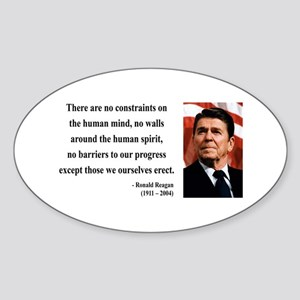 Ronald Reagan 13 Oval Sticker