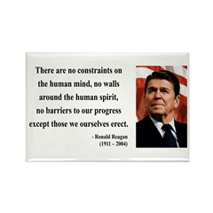 Ronald Reagan 13 Rectangle Magnet