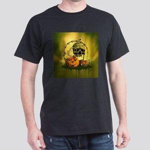 Halloween, funny pumpkins and skull T-Shirt