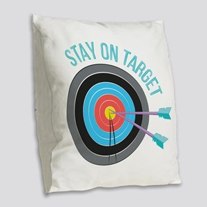 Stay On Target Burlap Throw Pillow