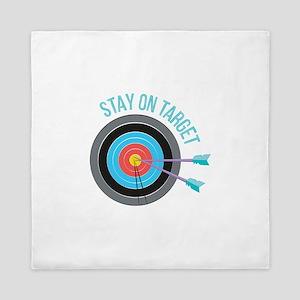 Stay On Target Queen Duvet