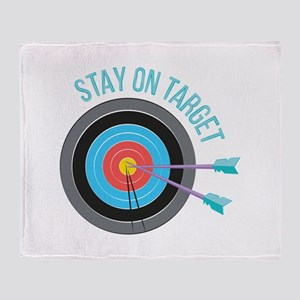 Stay On Target Throw Blanket