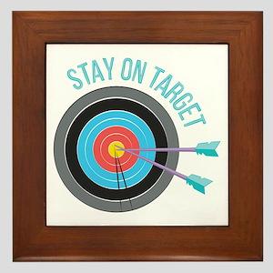 Stay On Target Framed Tile