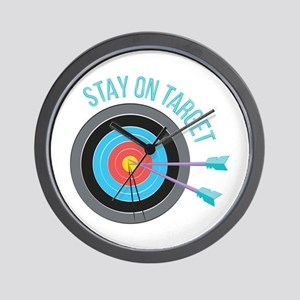Stay On Target Wall Clock