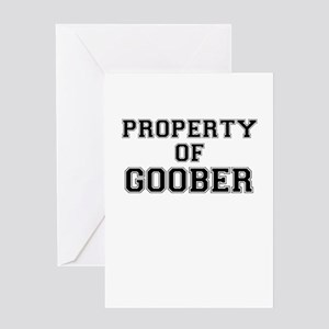Property of GOOBER Greeting Cards