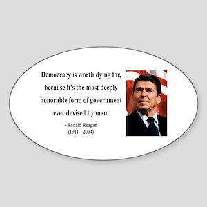 Ronald Reagan 15 Oval Sticker