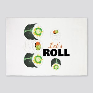 Lets Roll 5'x7'Area Rug