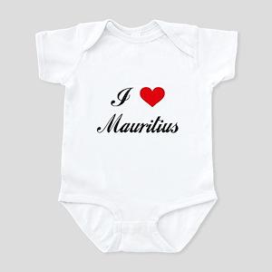 I Love Mauritius Infant Bodysuit