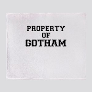 Property of GOTHAM Throw Blanket