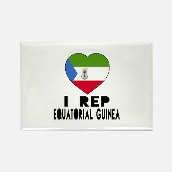 I Rep Equatorial Guinea Country Rectangle Magnet