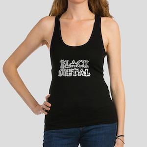Black Metal Racerback Tank Top