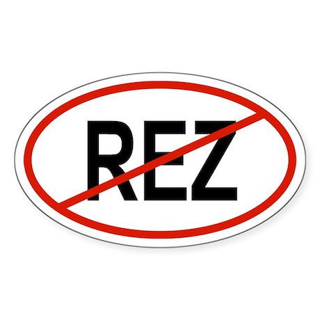 REZ Oval Sticker