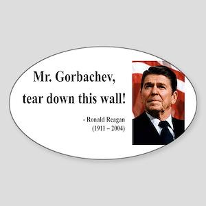 Ronald Reagan 17 Oval Sticker