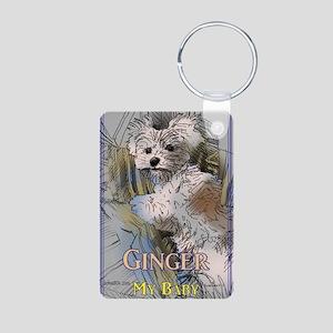 Ginger My Baby Aluminum Photo Keychain