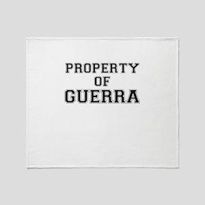 Property of GUERRA Throw Blanket