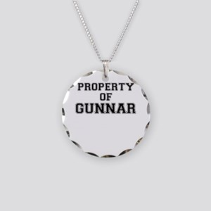 Property of GUNNAR Necklace Circle Charm