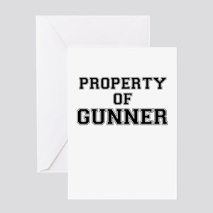 Property of GUNNER Greeting Cards