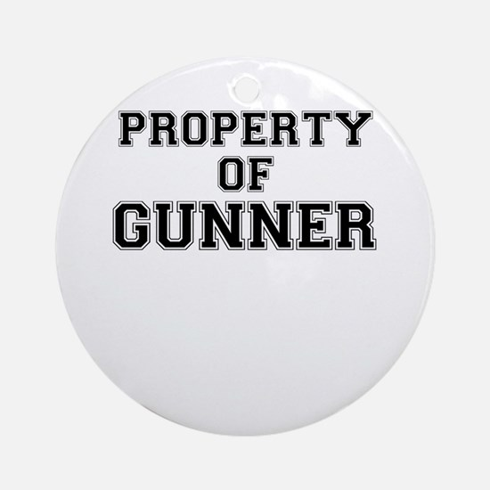 Property of GUNNER Round Ornament